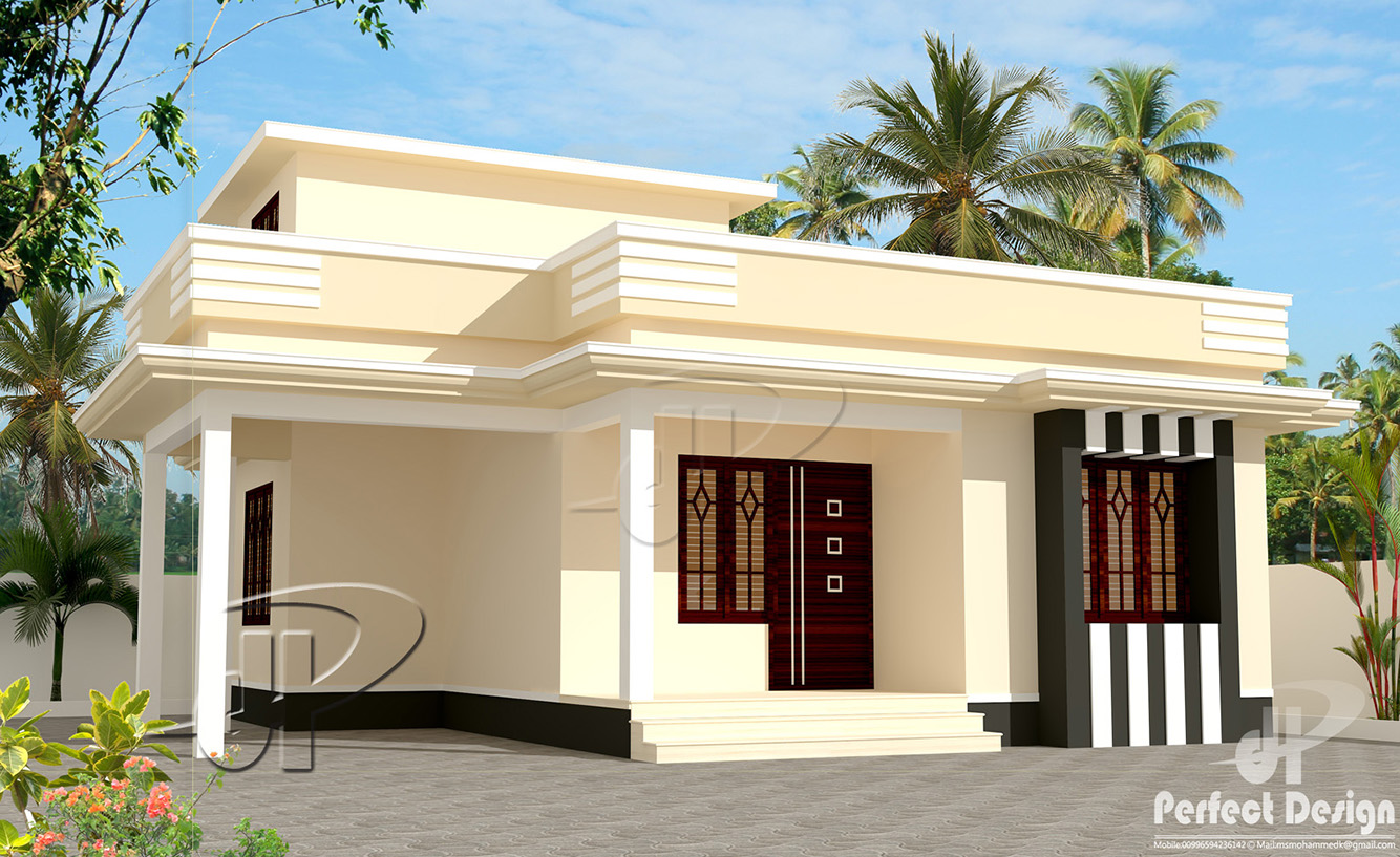 650 sq ft house plans in kerala escortsea for Small house images in kerala
