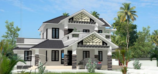 Beautiful modern contemporary 4 bedroom home Kerala Home Design