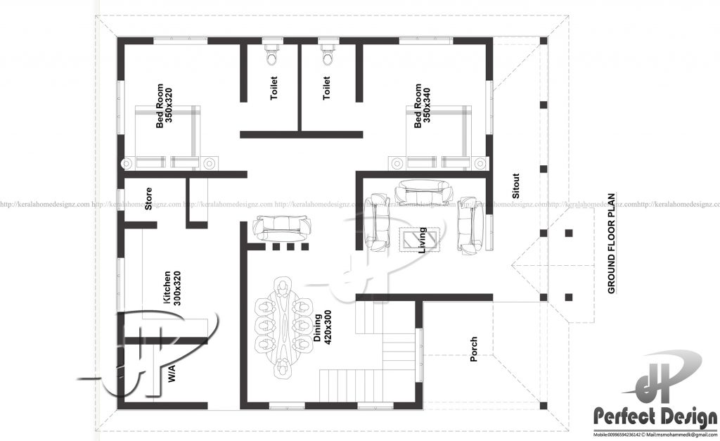 1130 Sq Ft Home Design Kerala Home Design