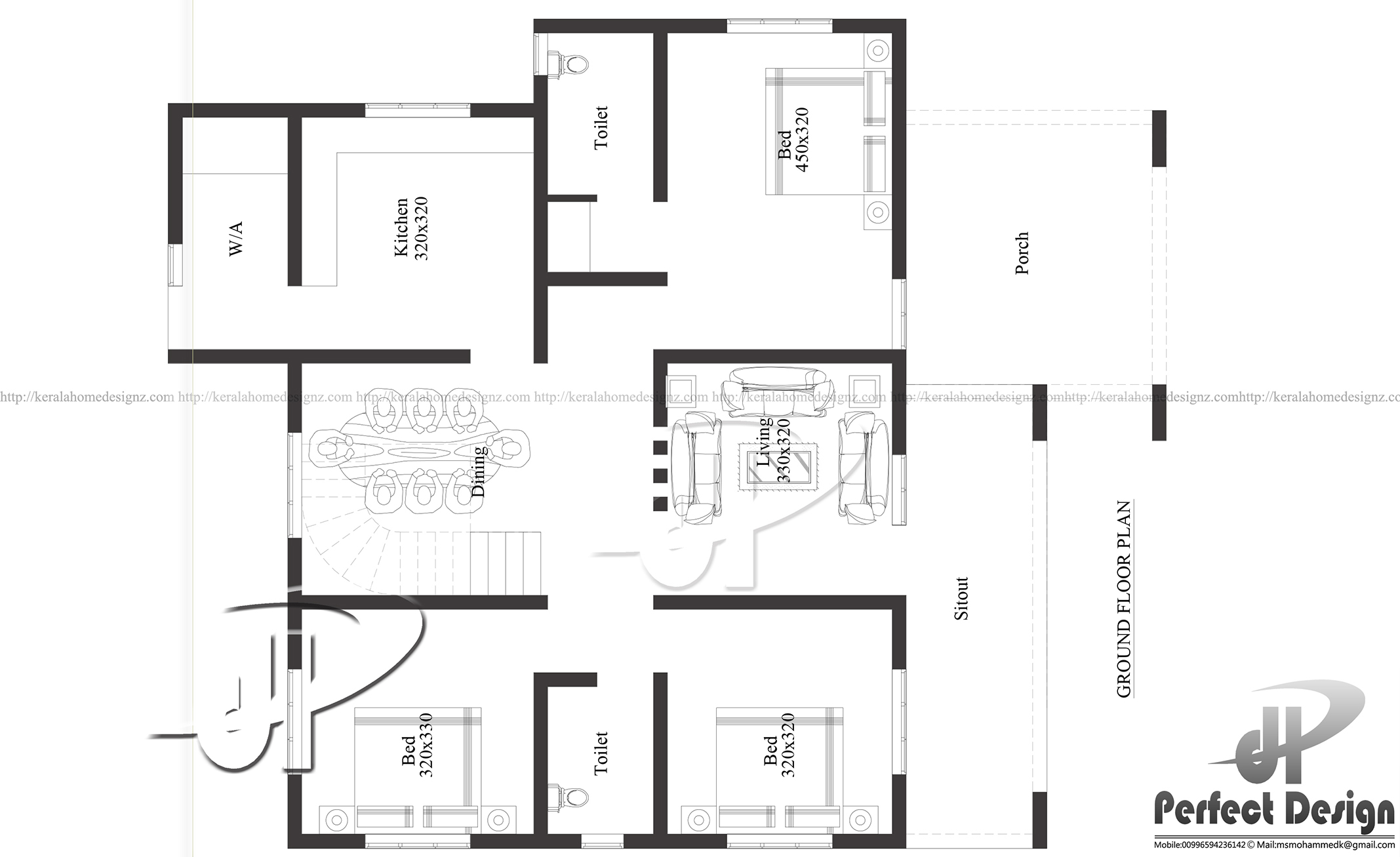 100 Sq Meter To Sq Ft 2310 Sq Ft Double Floor Home