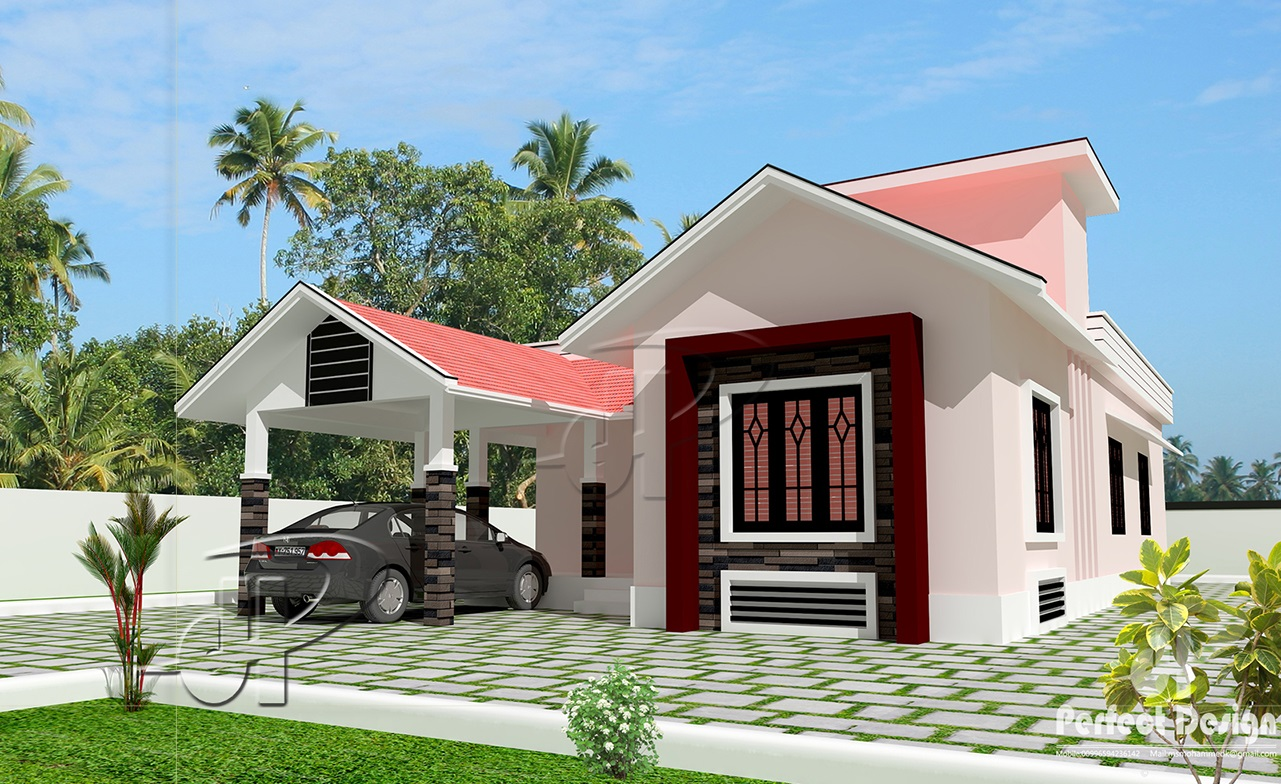 1129 Sq Ft Single Floor Home Part - 46: 1043 SQ.FT BEAUTIFUL HOME