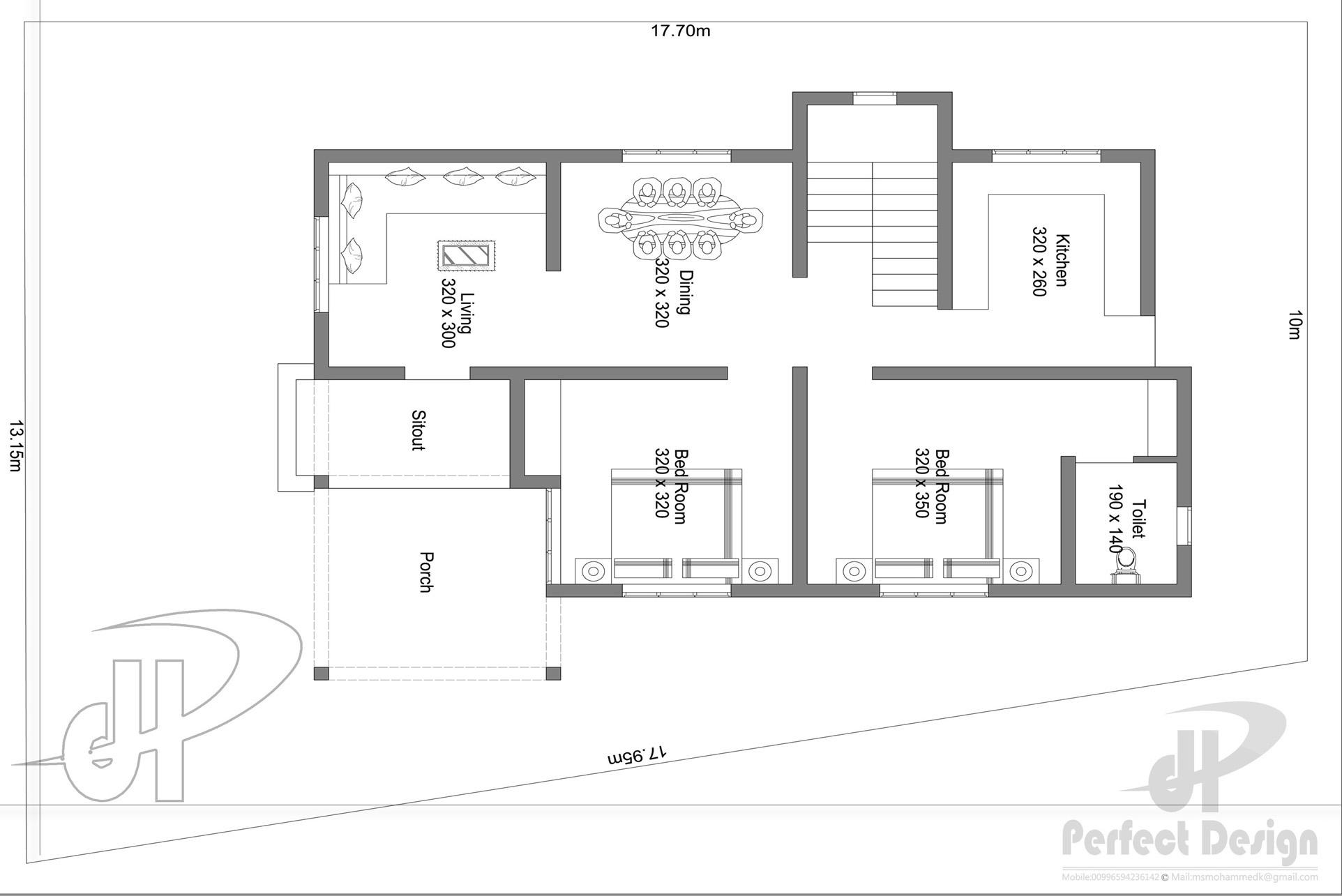 862 sq ft single floor home kerala home design plan