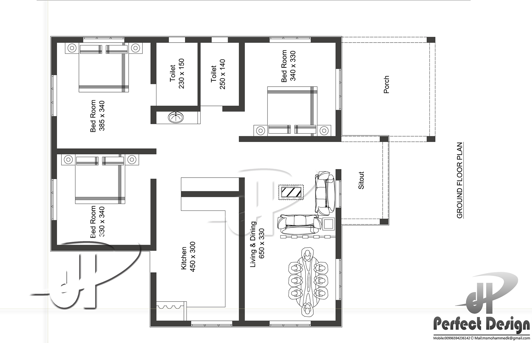 1087 sq ft home design kerala home design for 150 square meters house floor plan