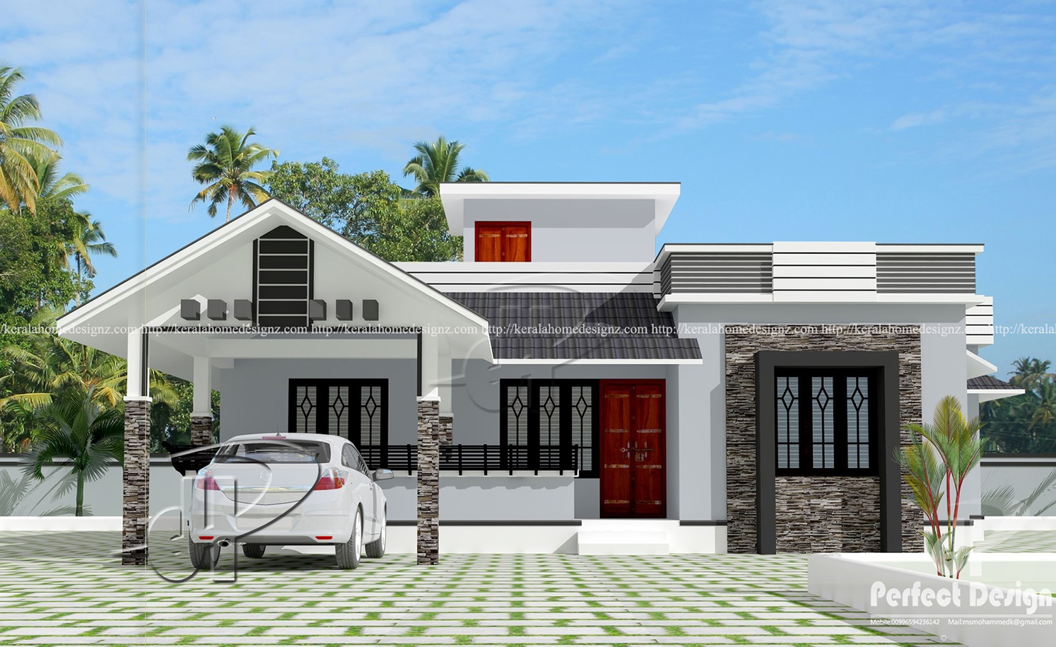 Sq Ft Modern Home Kerala Home Design