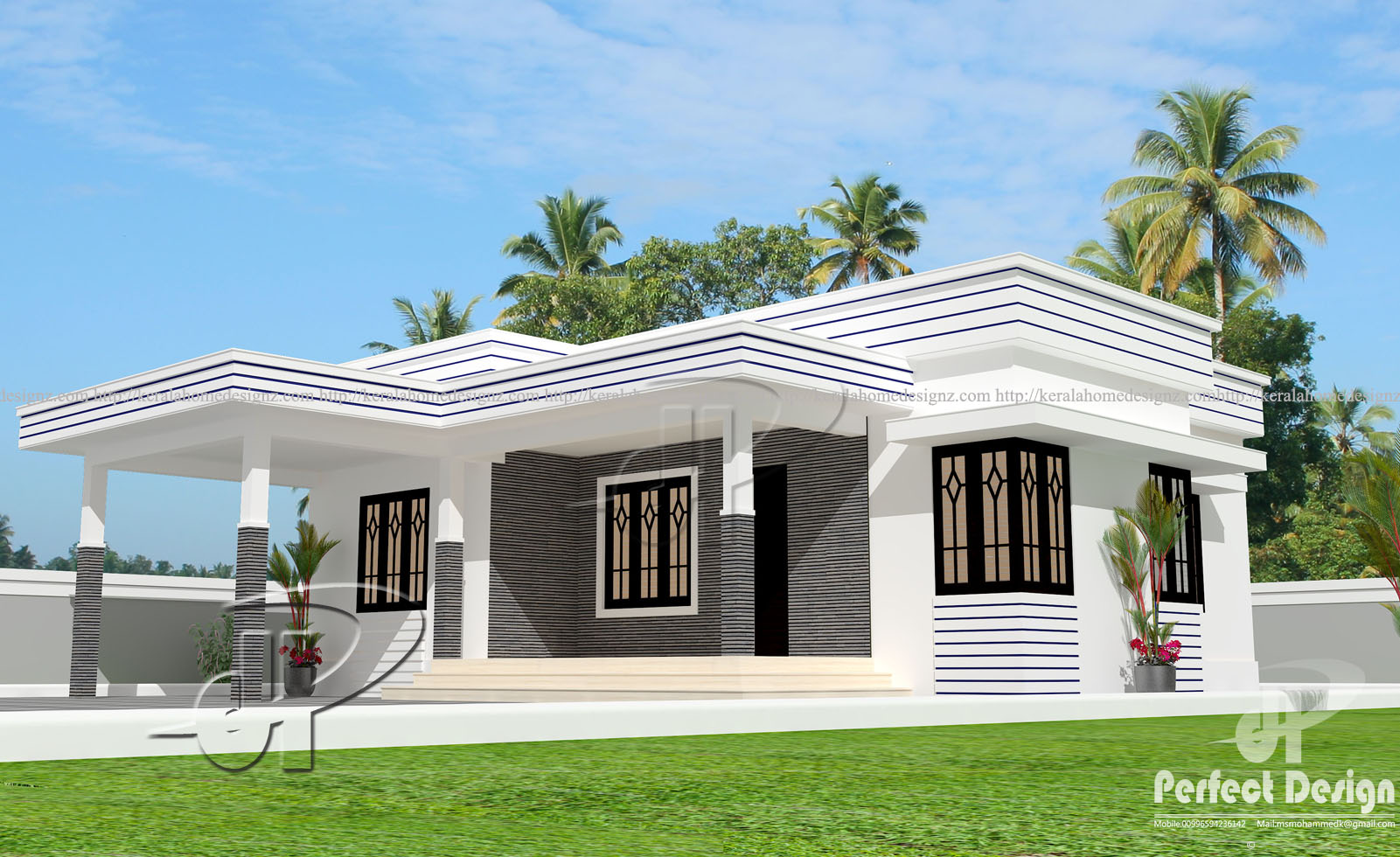 925 sq ft modern home design kerala home design for Perfect house design