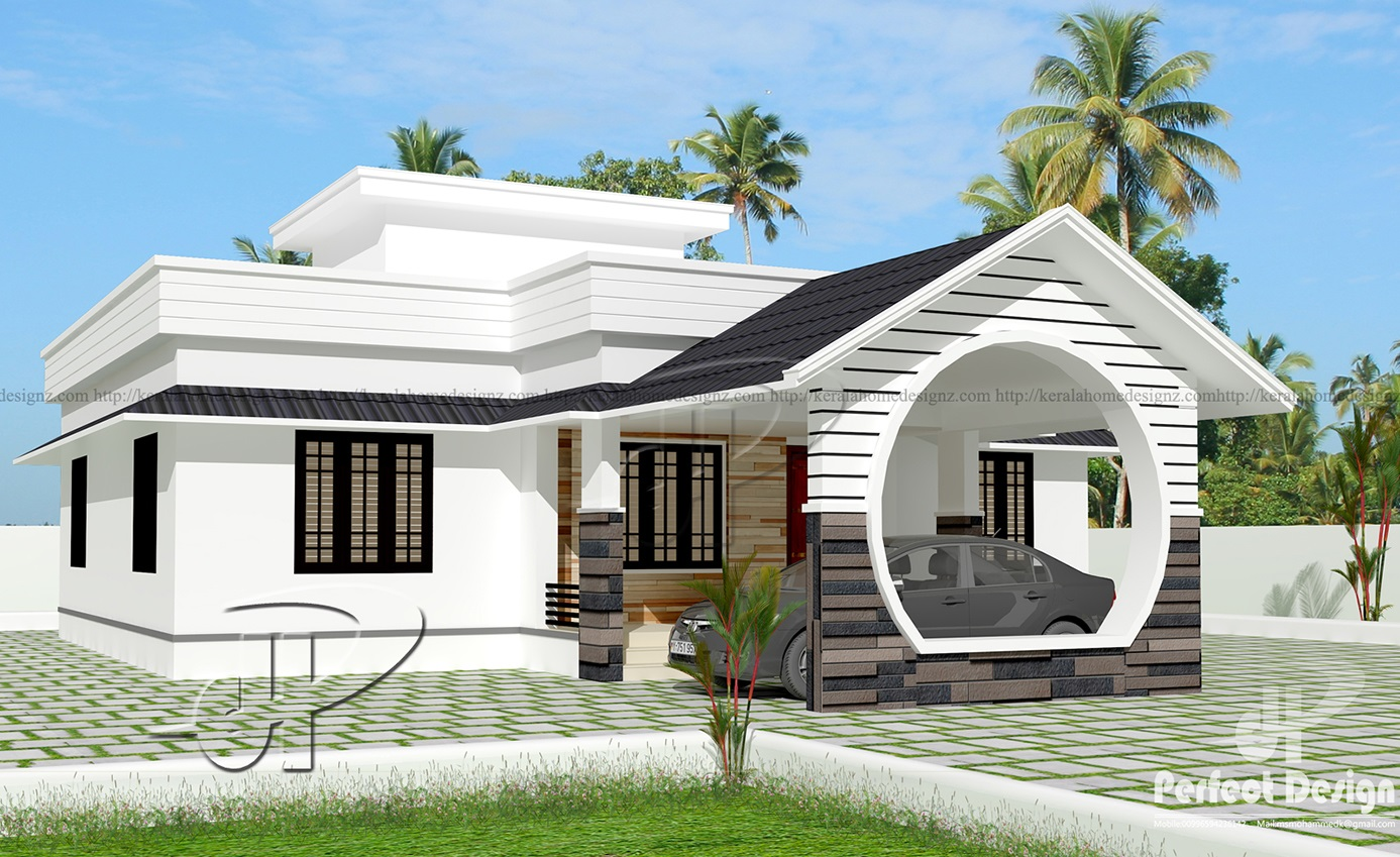 1109 sq ft single floor home kerala home design for New house designs and prices