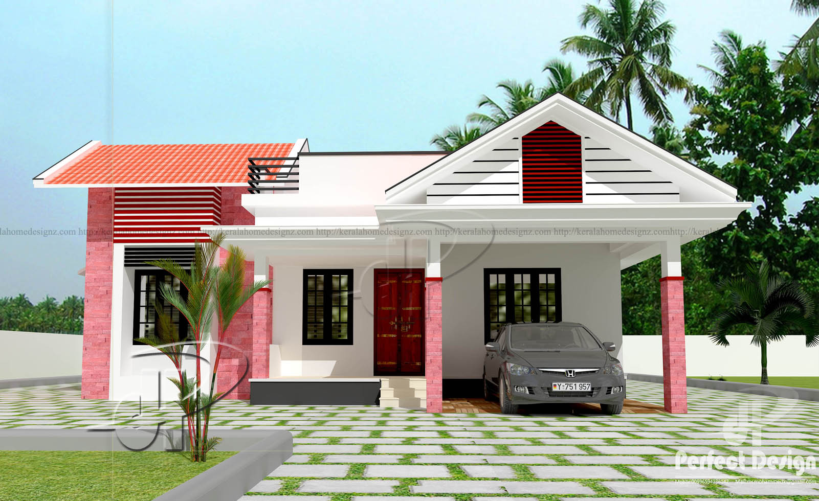 1086 sq ft modern home design kerala home design for Www homedesigns com