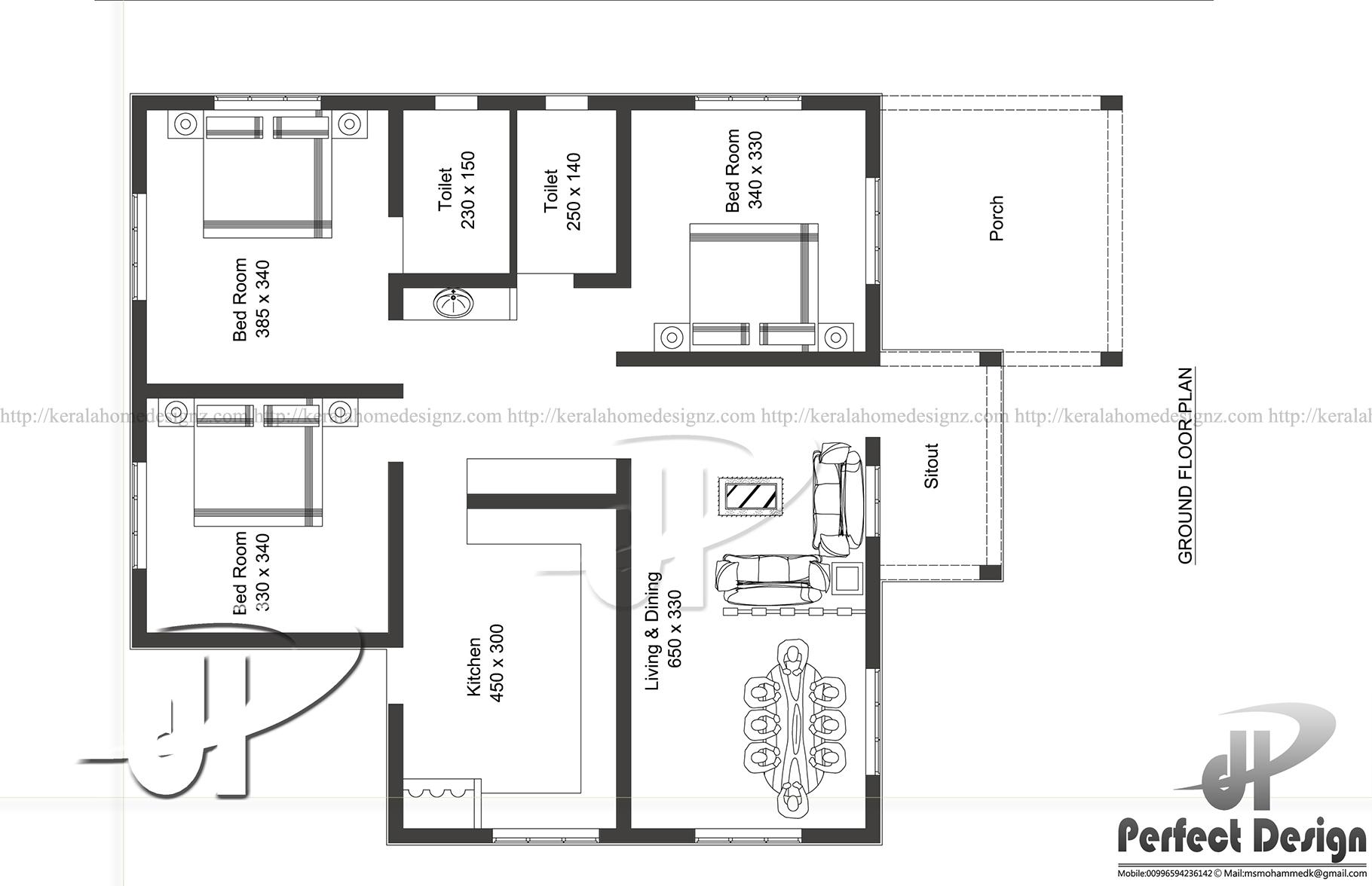 1086 SQ FT MODERN HOME DESIGN Kerala Home Design
