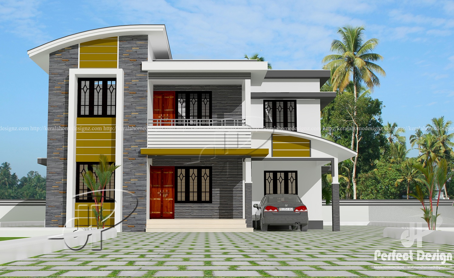 Contemporary Home Designs At Malappuram Part - 20: 1742 SQ FT MODERN HOME DESIGNS