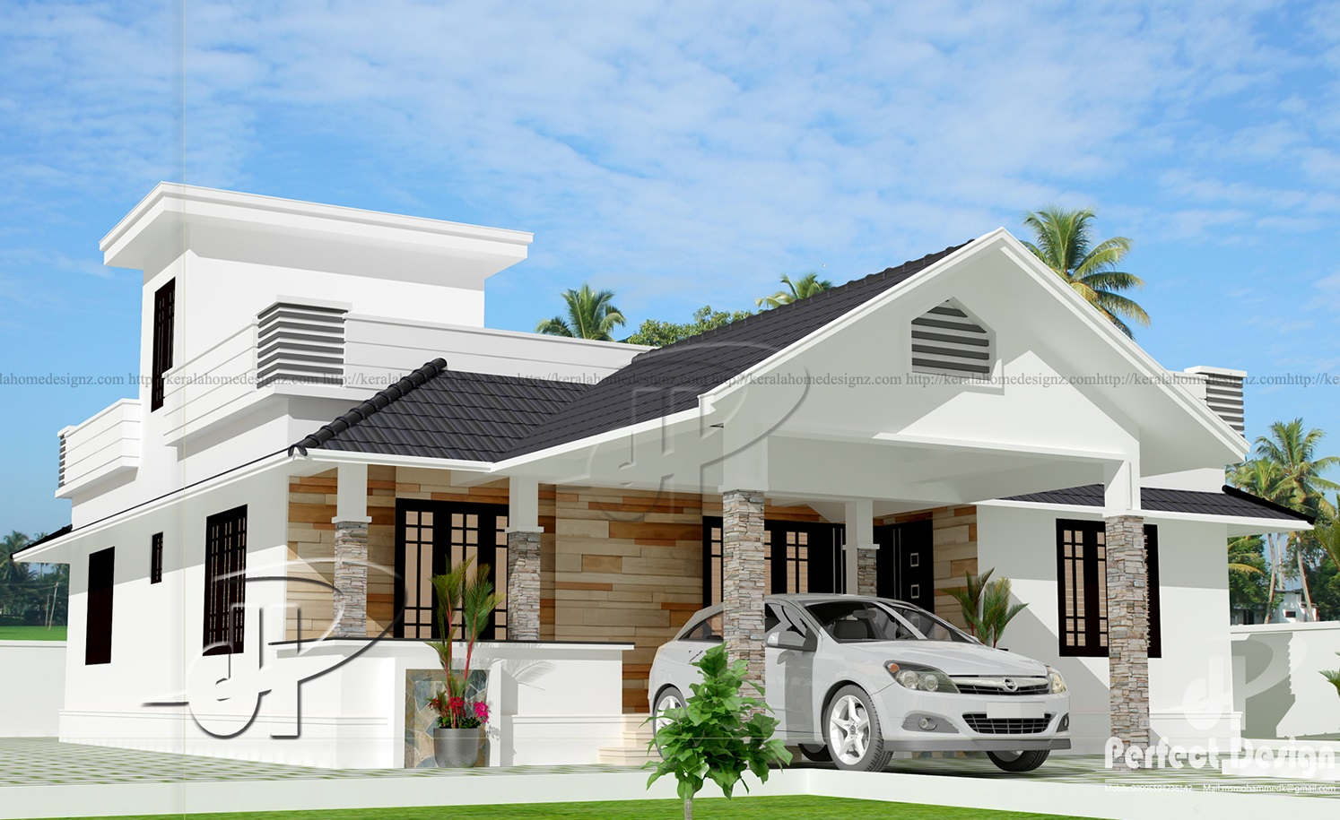 1141 square feet modern home designs