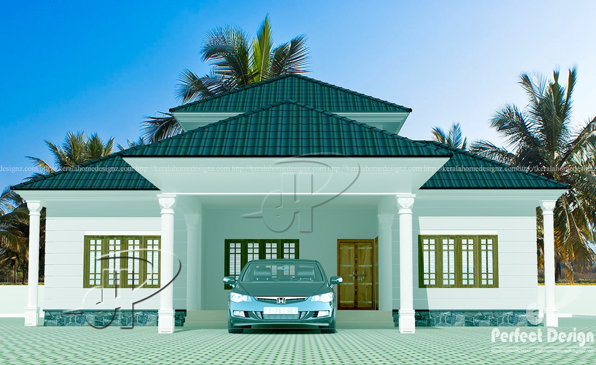 Kerala traditional house kerala home design for Conventional house style