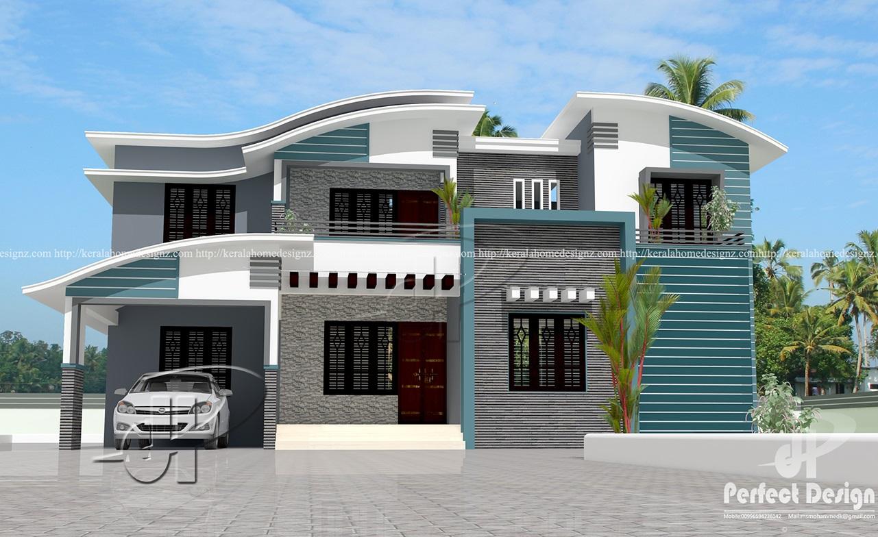 1775 sq ft home design kerala home design for Car porch designs for houses