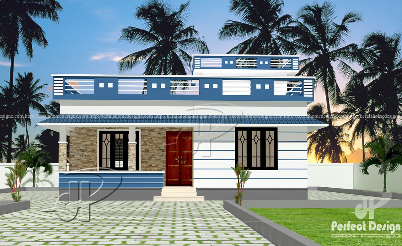This beautiful home plan designed to be built in 829 square feet 77 square meters this house have sit out2 bedrooms1 attached bath common bath