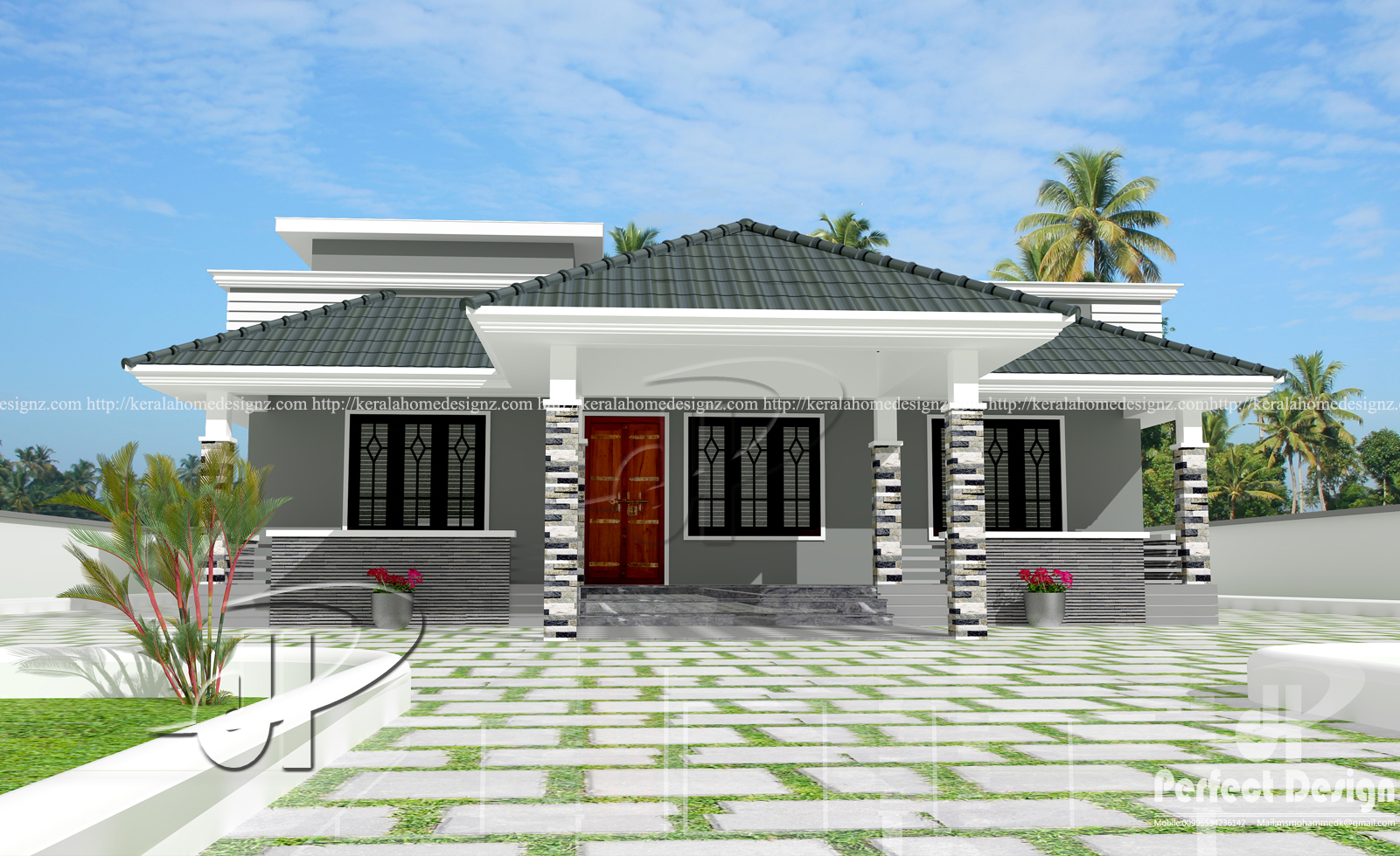 This home designed to be built in 1086 square feet 101 square meters this house have porchsit out3 bedrooms attached bathdiningliving kitchen and