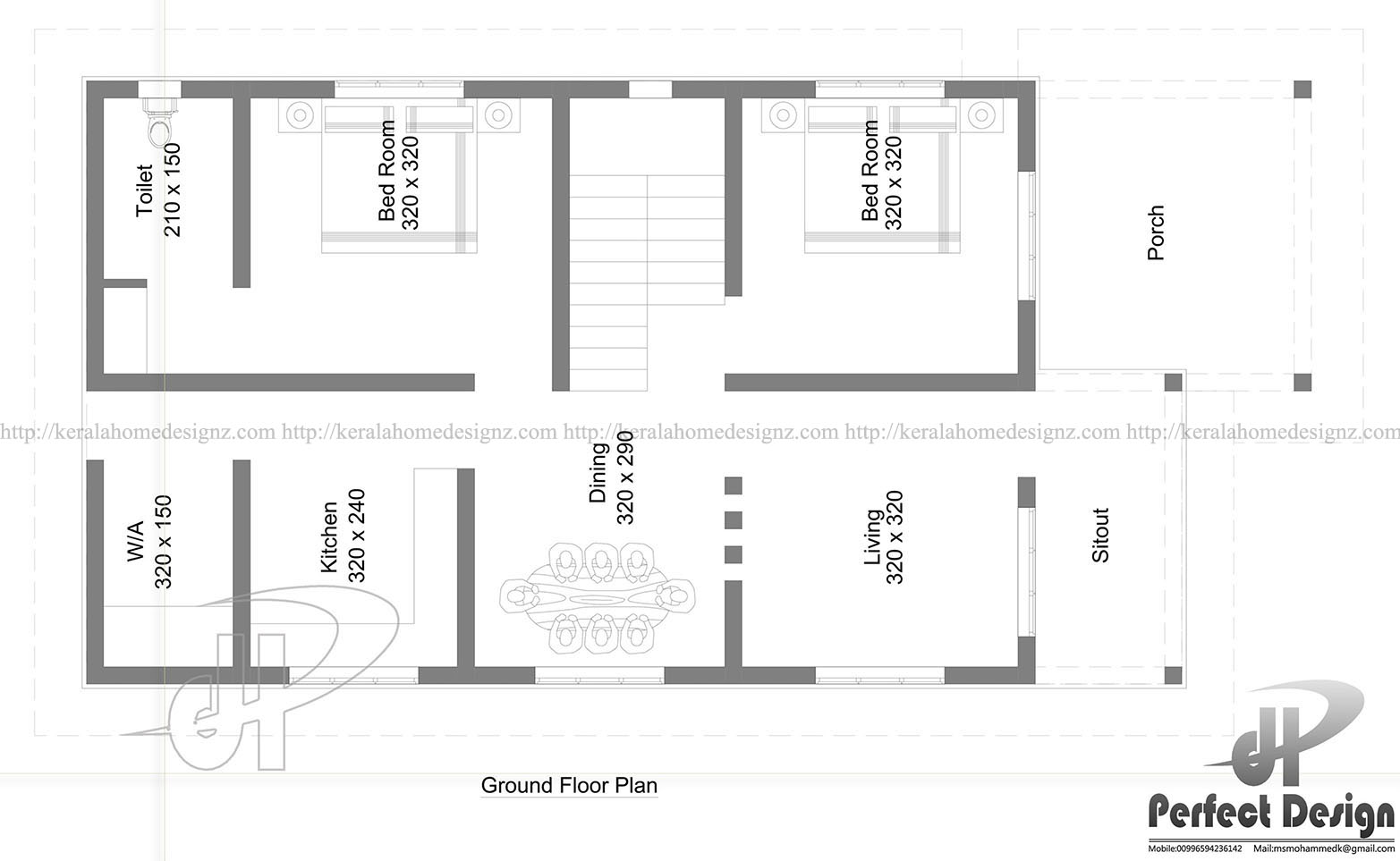 883 sq ft simple home design kerala home design Simple square house plans