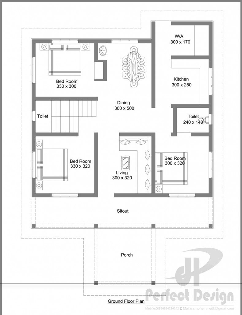 1086 sq ft home designs kerala home design for 300 square meter house plan
