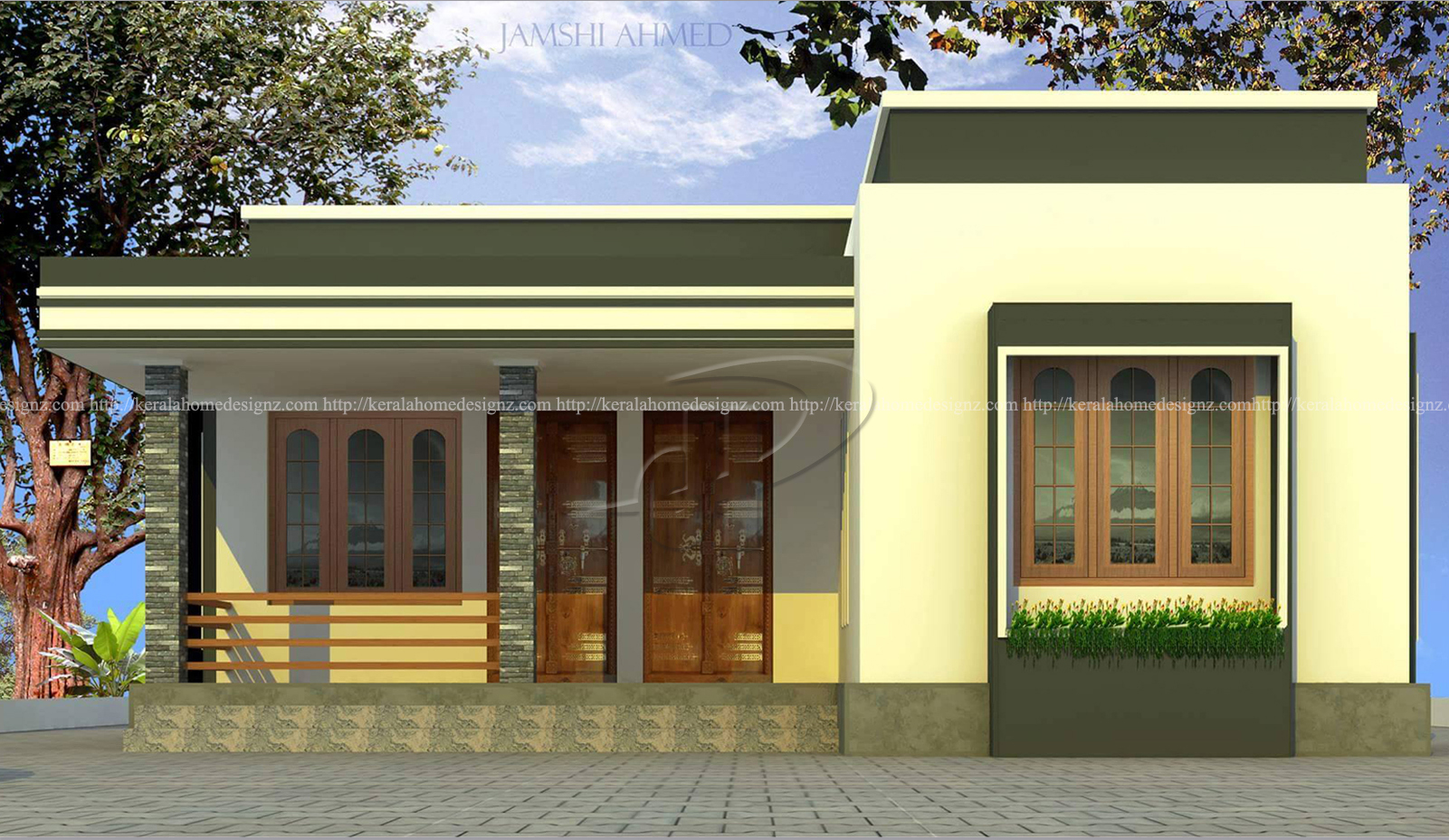 1129 Sq Ft Single Floor Home Part - 36: 1032 SQ.FT HOME DESIGNS