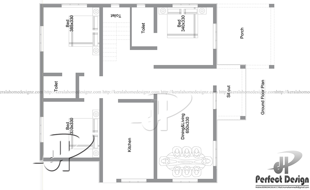1150 sq ft modern home kerala home design for 1150 sq ft house plans
