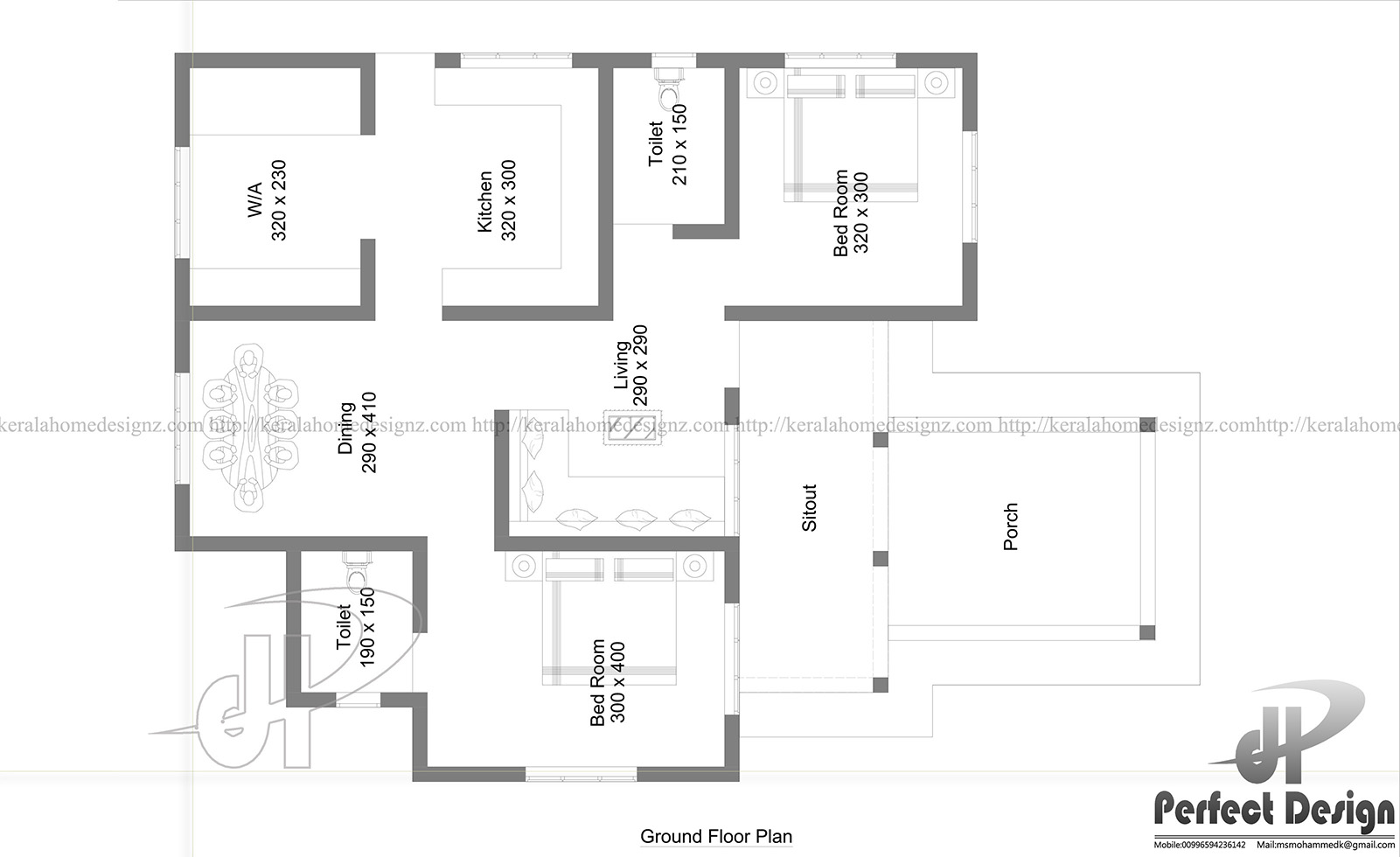 969 Sq Ft Beautiful Home Design Kerala Home Design