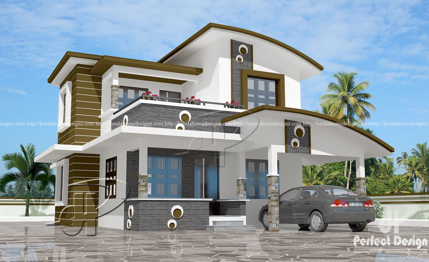 1560 sq ft contemporary home design kerala home design for Home house design