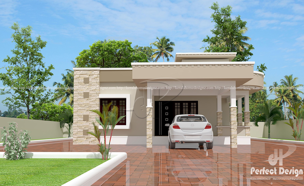 1087 sq ft contemporary home designs kerala home design for 90s modern house