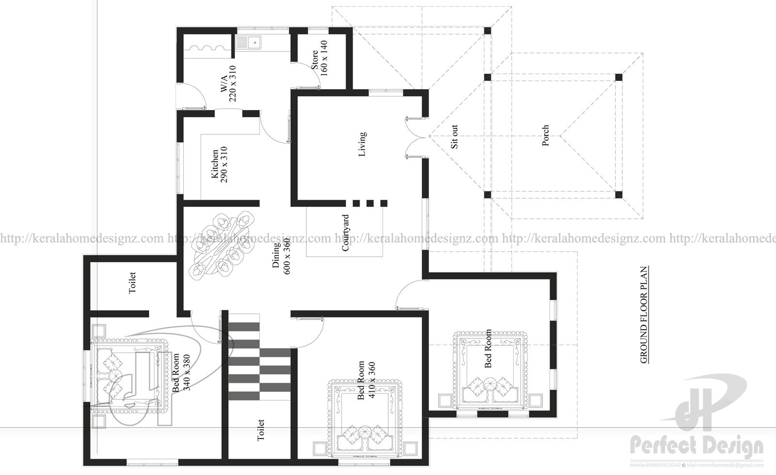 1345 Sq Ft Beautiful Home Kerala Home Design