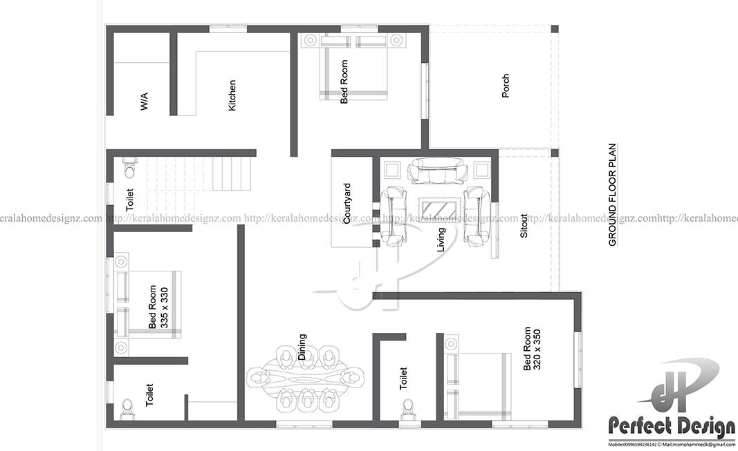 1097 Sq Ft Modern Home Designs Kerala Home Design