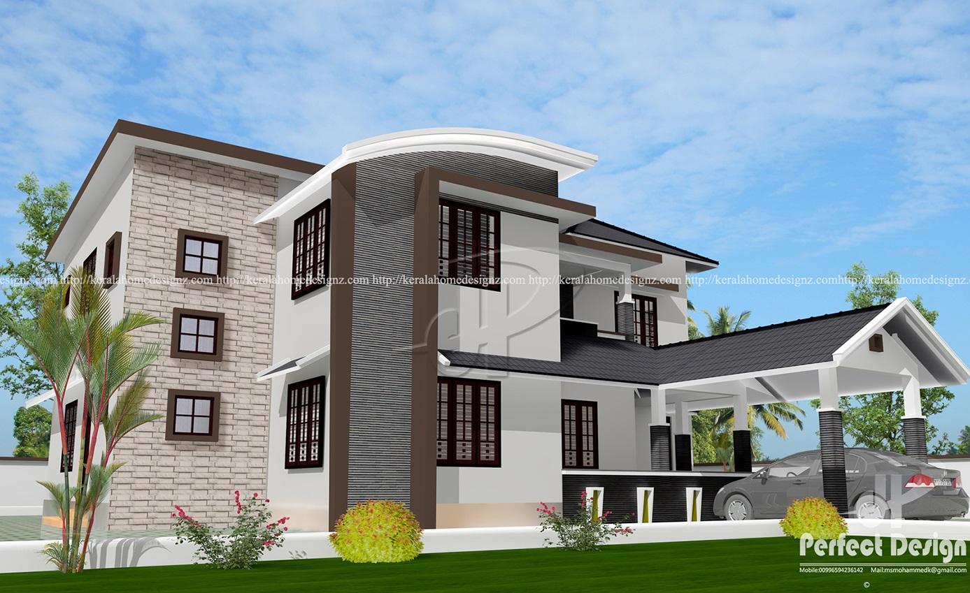 2455 Sq Ft Mixed Roof Home Kerala Home Design