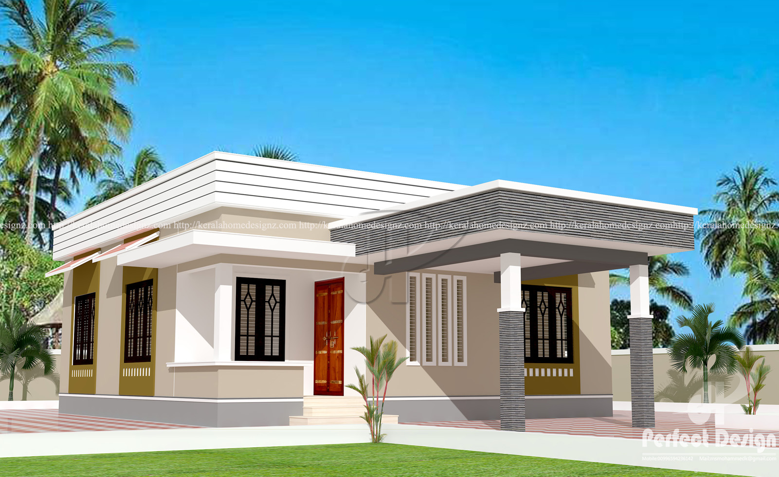 829 sq ft low cost home designs kerala home design for Low cost house plans with estimate