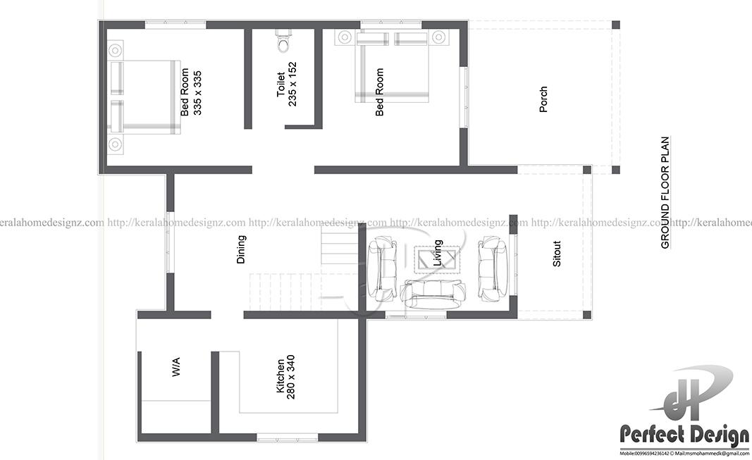 957 Sq Ft Contemporary Home Kerala Home Design