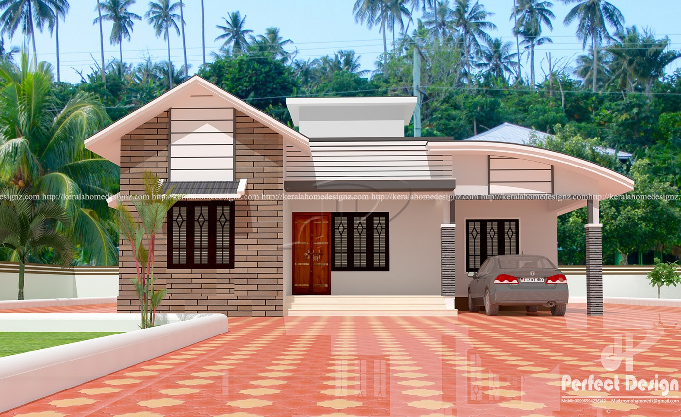 Contemporary Home Designs At Malappuram Part - 26: 1097 SQ FT MODERN HOME DESIGNS