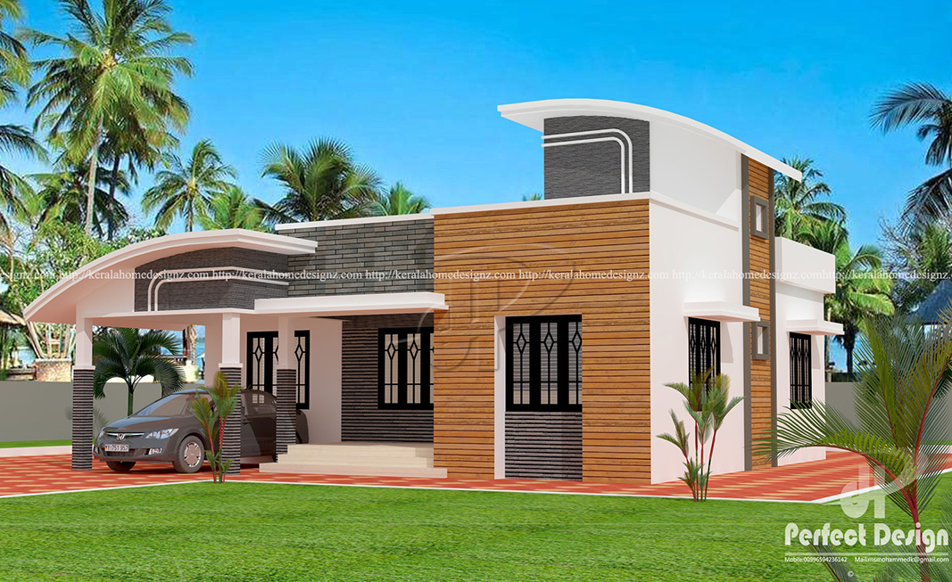1001 sq ft beautiful home kerala home design for 57 square meters to feet