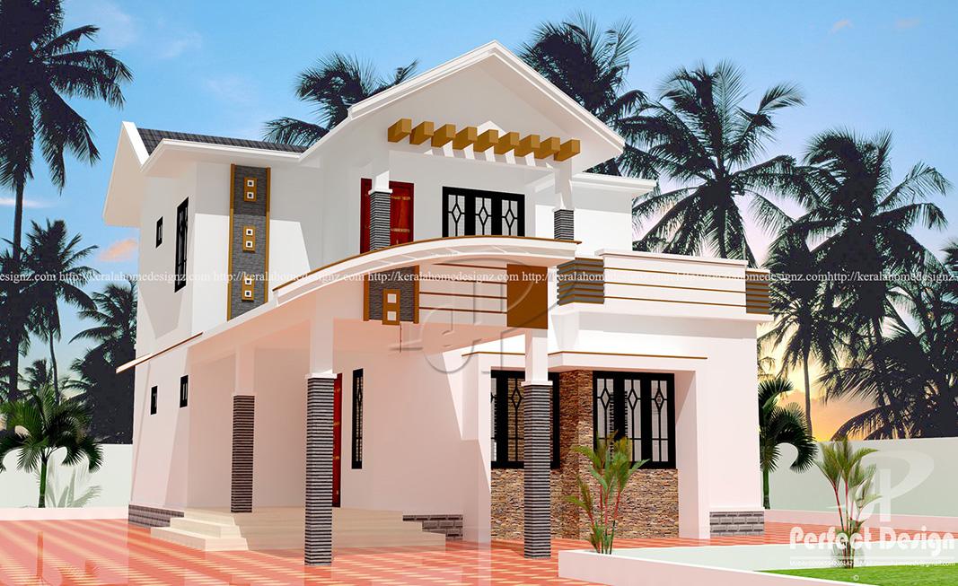 1334 Sq Ft Double Floor Home Design Kerala Home Design