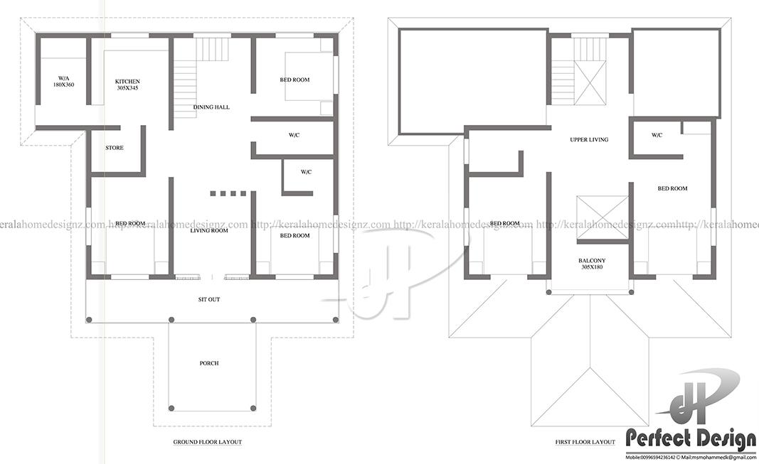 2023 Sq Ft Mixed Roof Home Design Kerala Home Design