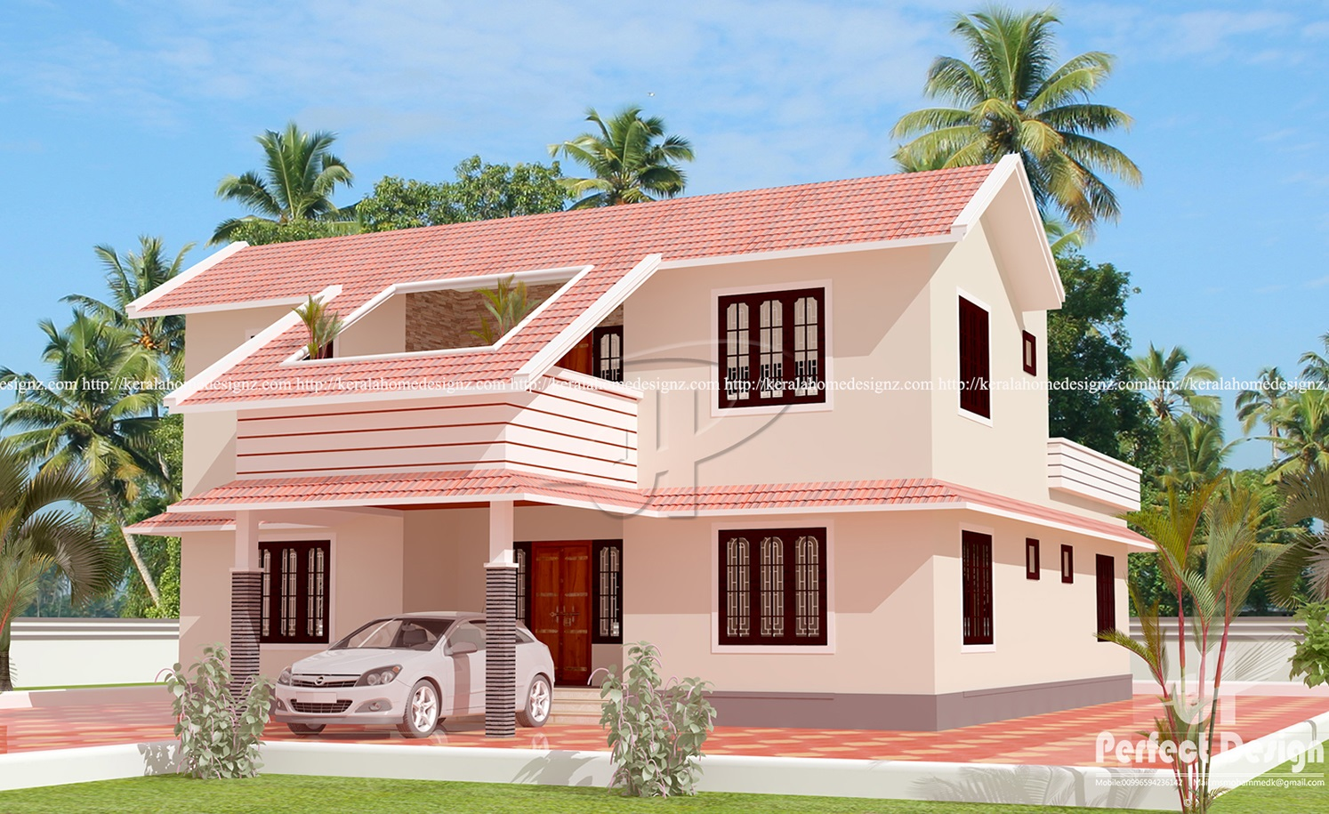 2162 Sq Ft Classic Colonial Home Kerala Home Design