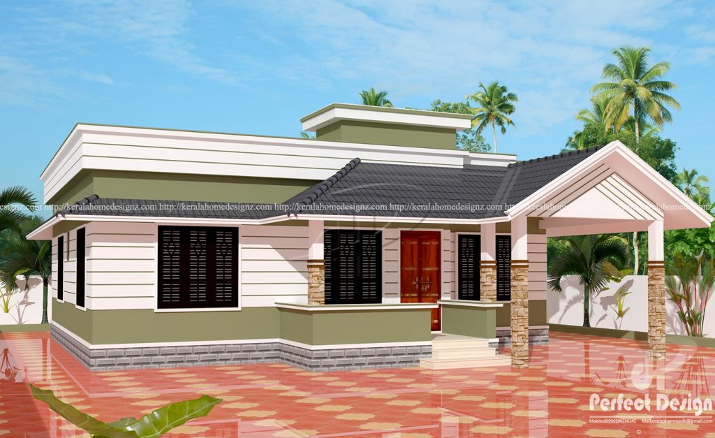 12 lakhs cost estimated kerala style house kerala home for Kerala style house plans with cost