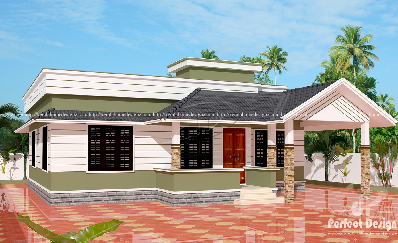 12 lakhs cost estimated kerala style house kerala home for Low cost house plans with estimate