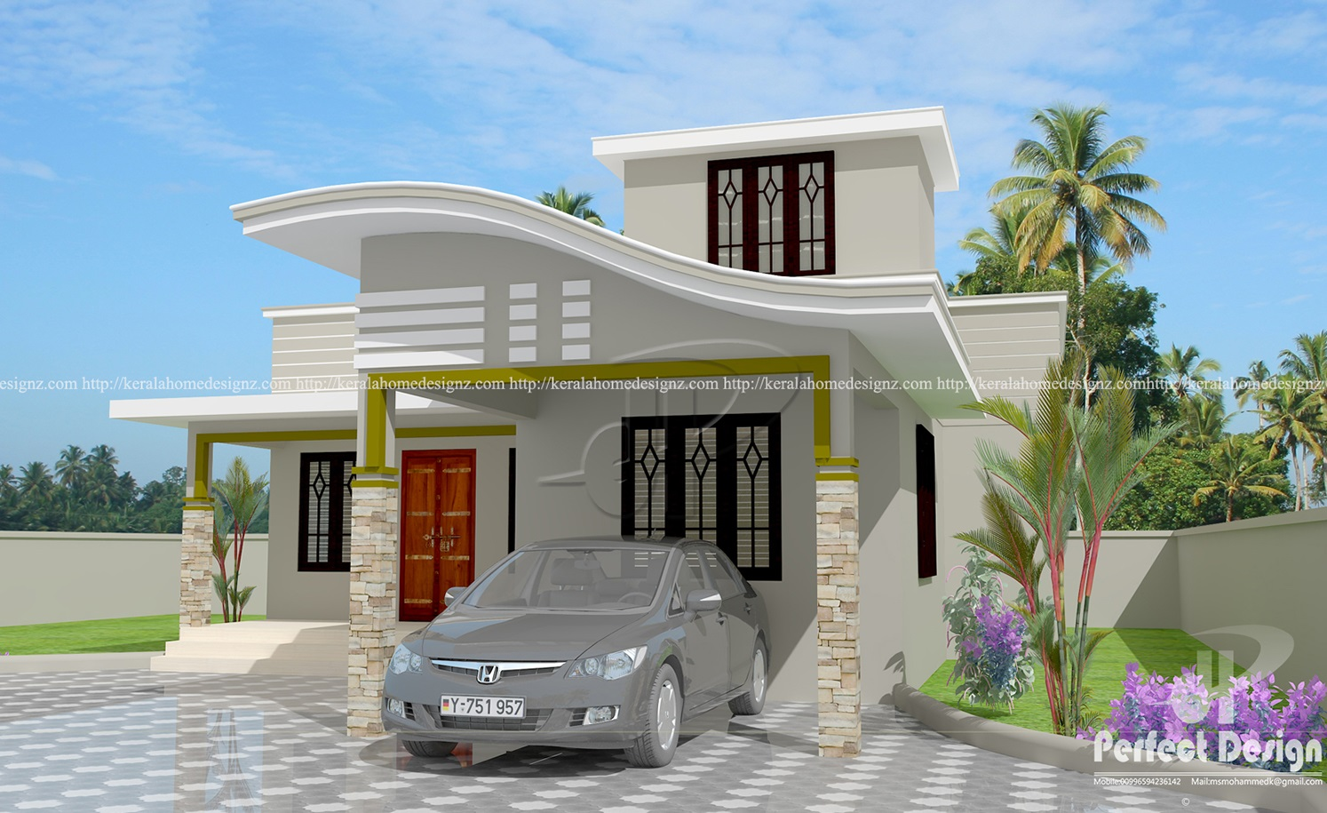 Contemporary Style Modern Home Kerala Home Design