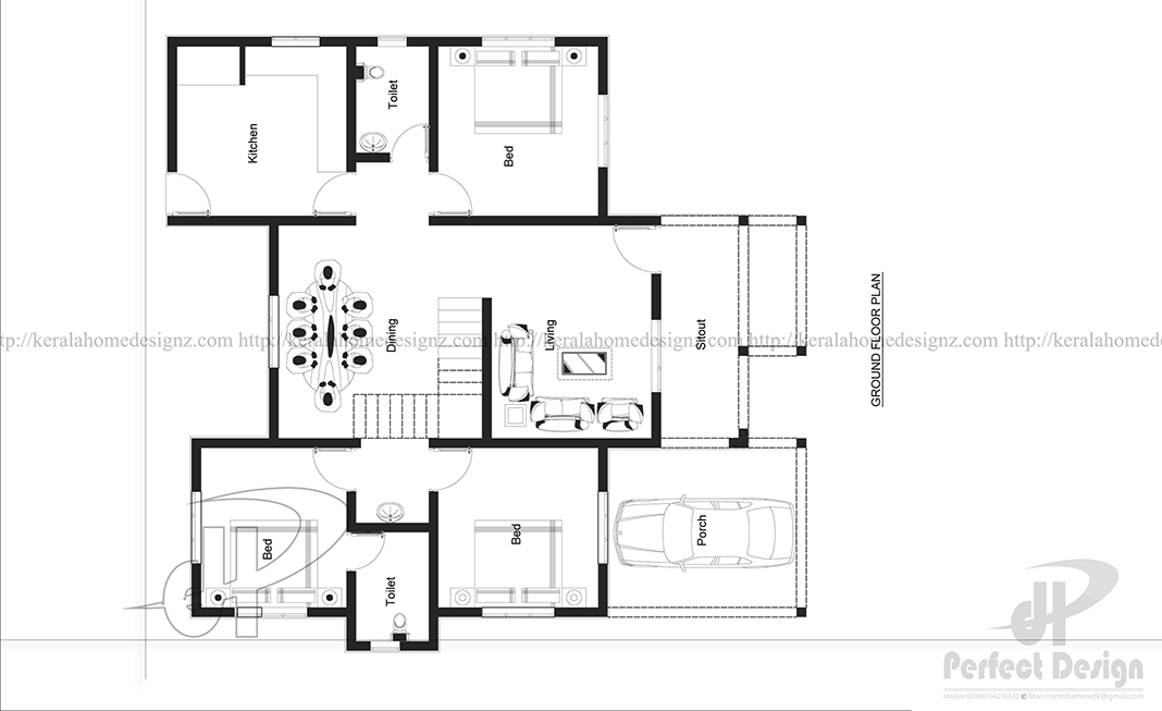 3 Bedroom Single Storey Budget House Part - 38: ... Kitchen Are Really Spacious. This Plan Is Designed In A Manner For The  Latest Interior Designs. 3 Bedroom Single Storey Budget House Layout
