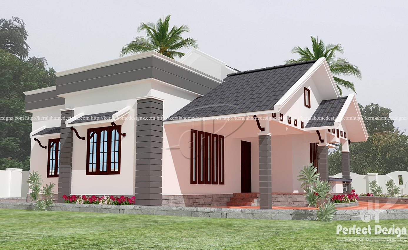 Minimalist single floor house kerala home design for Minimalist house kerala