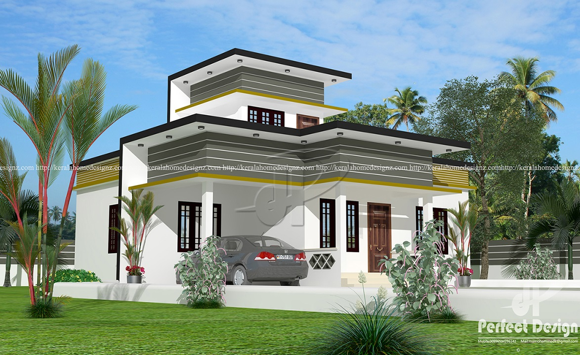 Exceptional 1129 Sq Ft Single Floor Home Part - 8: 925 Sq.feet Contemporary Single Floor House