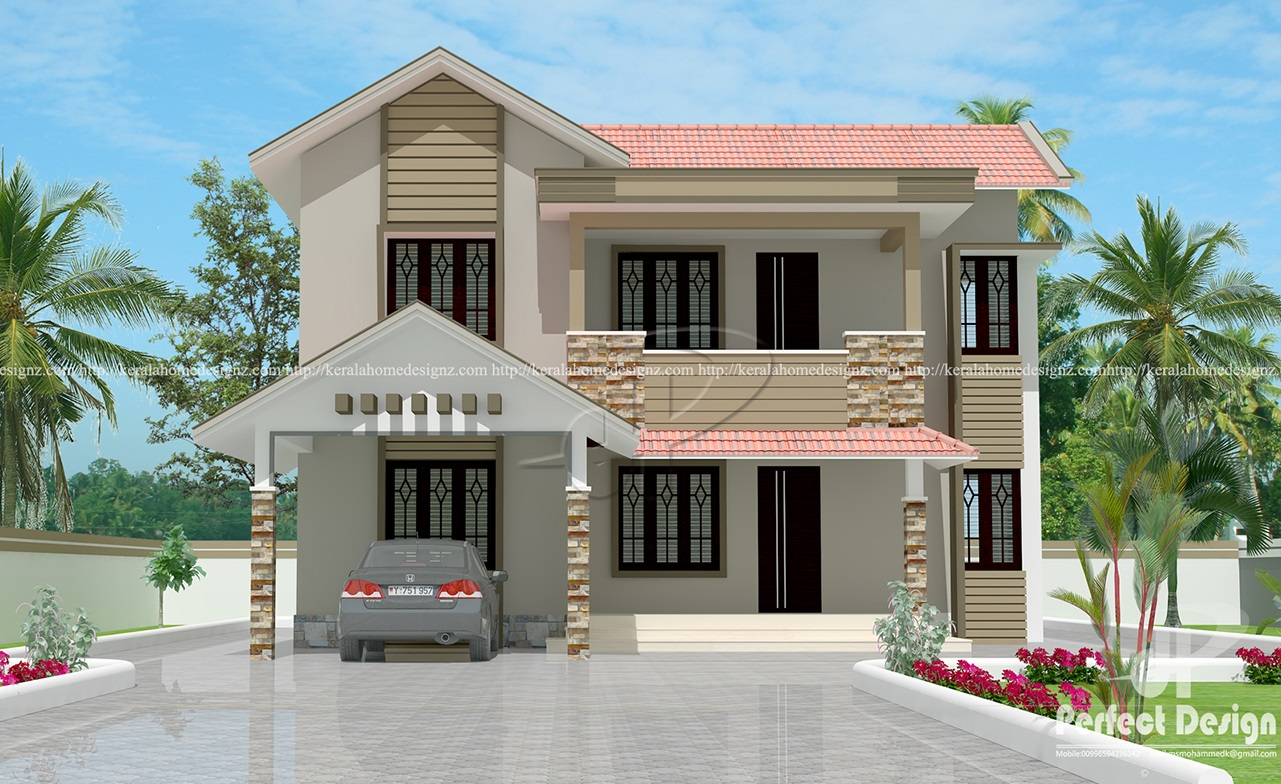 New Villa Design In 1603 Kerala Home Design