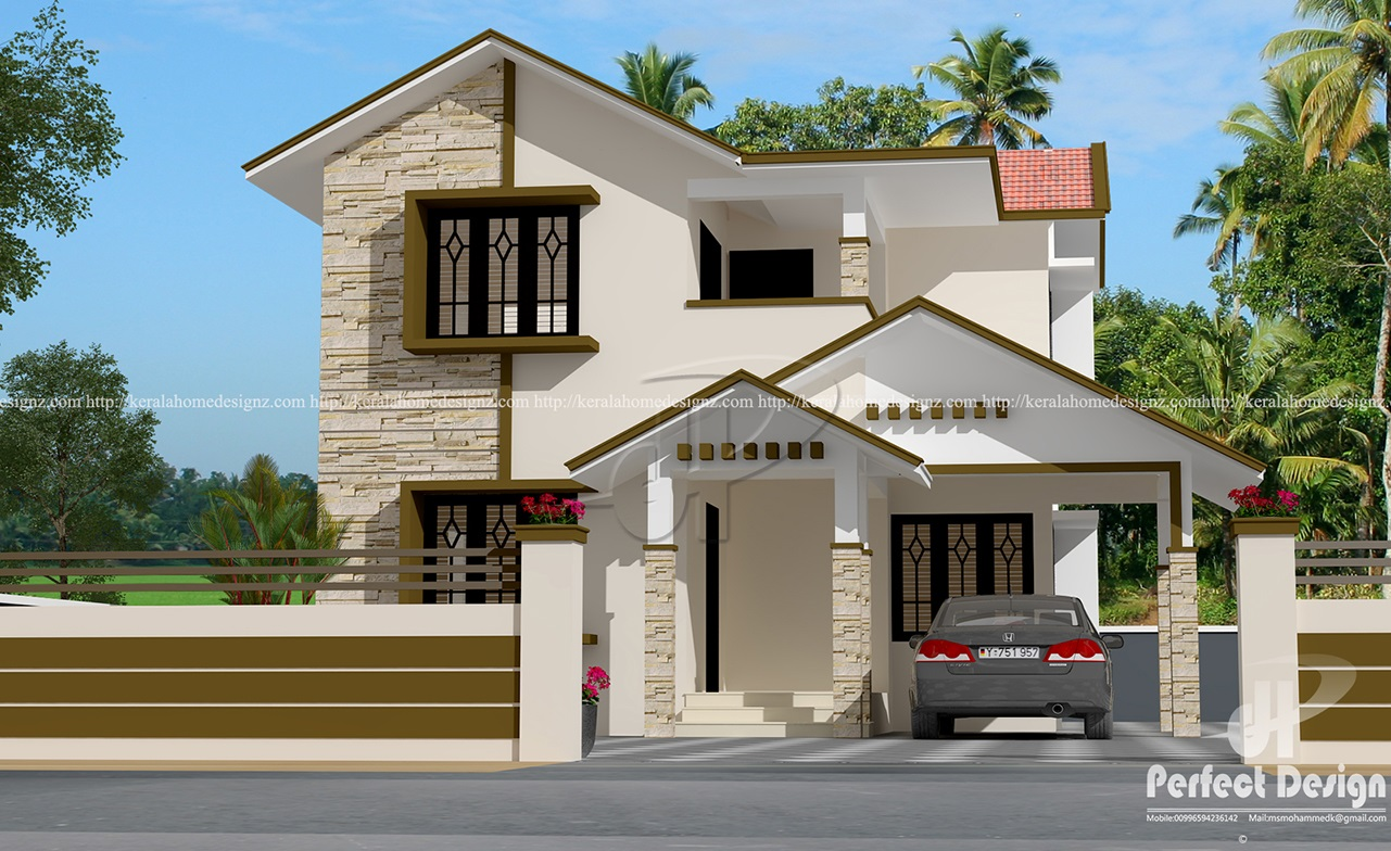 Beautiful 4 Bedroom Mixed Roof Home Part - 3: 4 Bedroom Mixed Roof Home Design