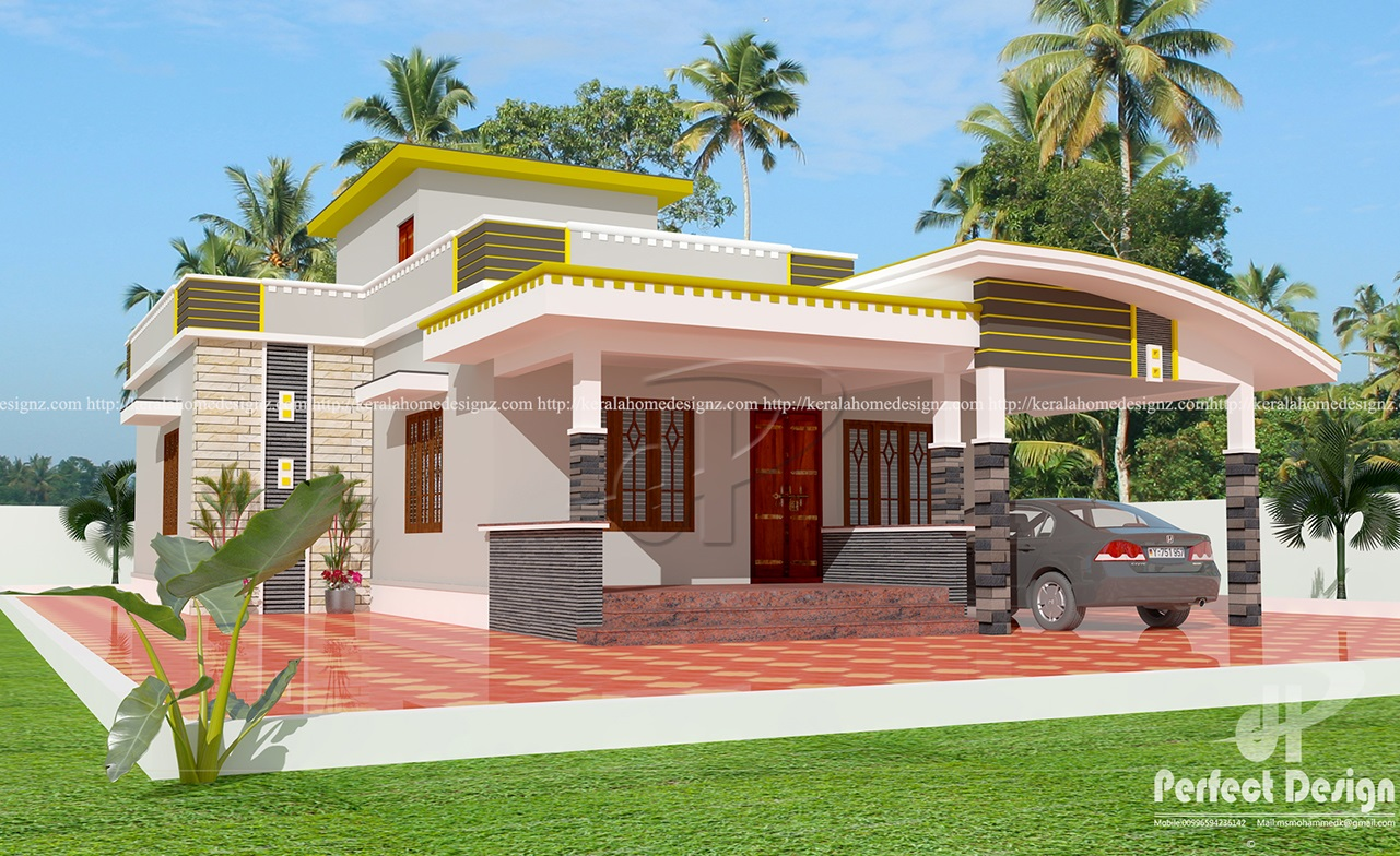 Nice single floor contemporary home kerala home design for Single floor house
