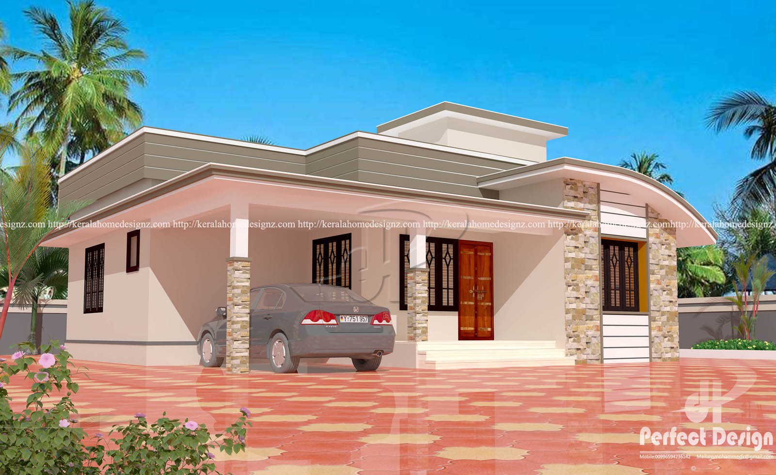 13 lakhs cost estimated modern home design kerala home for Home plans and designs
