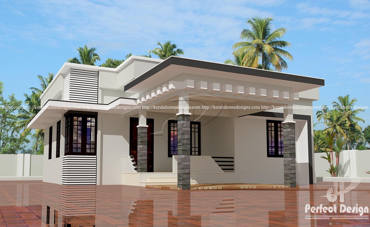 Single floor contemporary house kerala home design for Single floor modern house