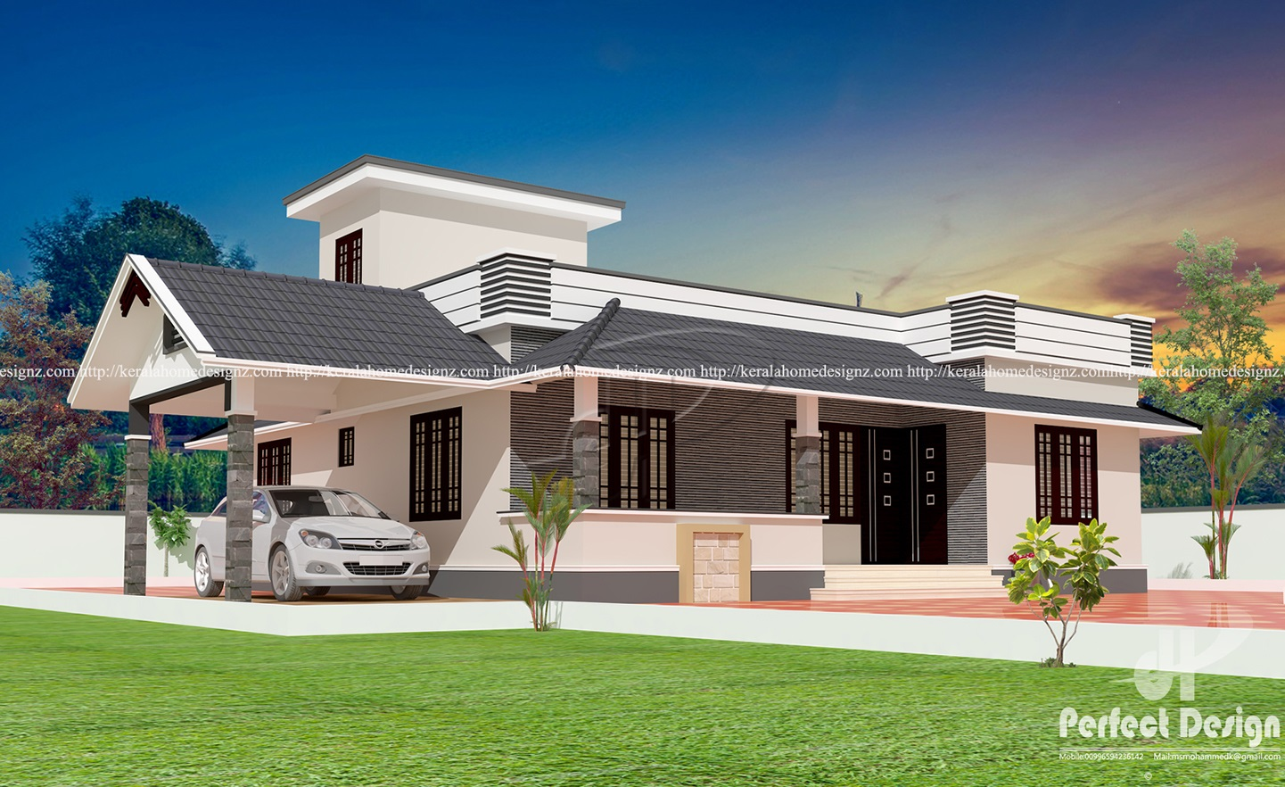 3bhk Kerala Style Home Designs Kerala Home Design