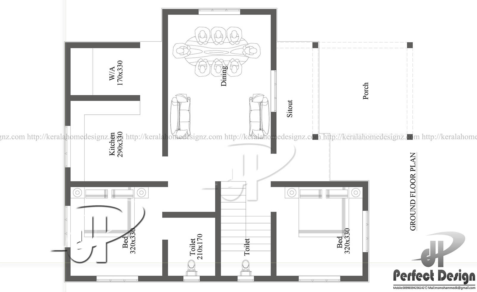 Modern house under 1000 square feet kerala home design for Modern house plans under 1000 sq ft