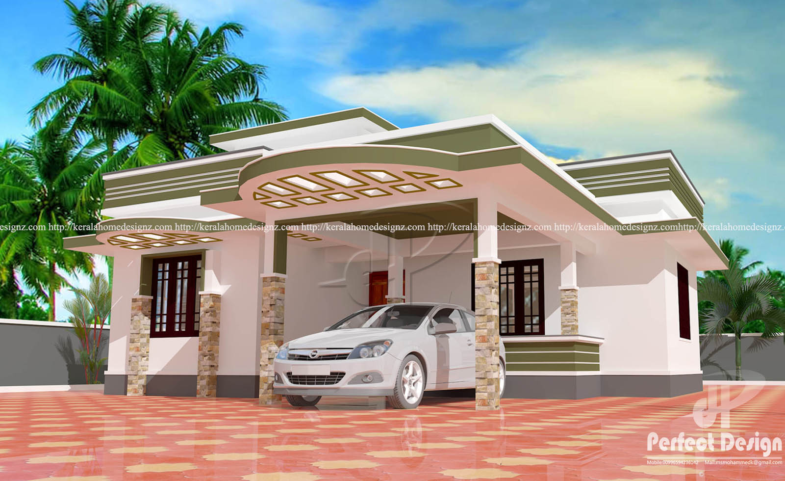 Kerala house plans under 1000 square feet for Homes under 1000 sq ft