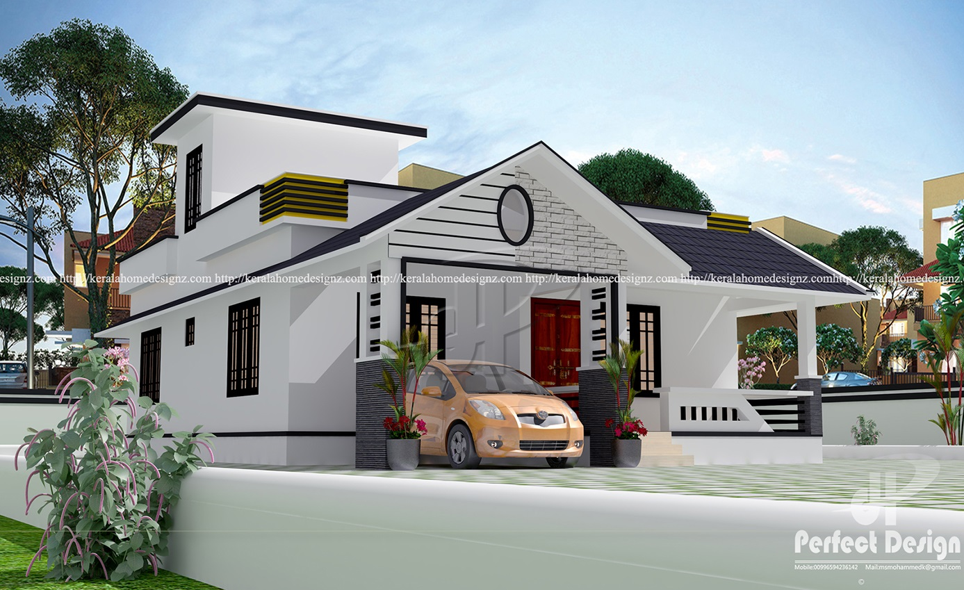 1129 Sq Ft Single Floor Home Part - 37: This Single Floor Home Designed To Be Built In 957 Square Feets (89 Square  Meters) This House Have Porch,sitout,2 Bedrooms, Attached  Bath,dining,living And ...